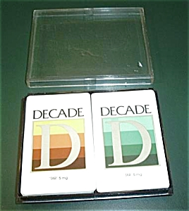 OLD DECADE CIGARETTE PLAYING CARDS WITH CASE (Image1)