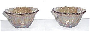 CARNIVAL GLASS CANDLE STICK HOLDERS (Image1)