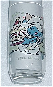 1983 BAKER SMURF PEPSI COLLECTORS GLASS (Image1)