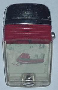 SCRIPTO VU LIGHTER WITH 60'S SKI-DOO (Image1)