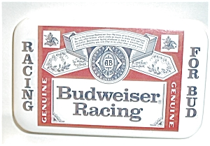 BUDWEISER RACING PIN BACK (Image1)