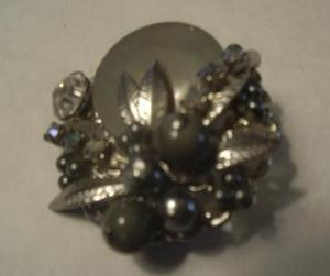 MOTHER OF PEARL & RHINESTONE, FAUX DIAMOND BR (Image1)