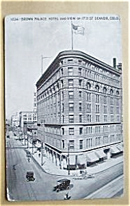 BROWN PLACE HOTEL 17TH ST. DEVER COLO 1920`S (Image1)