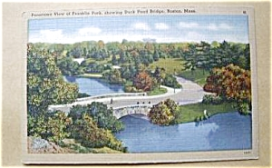 FRANKLIN PARK SHOWING DUCK POND BOSTON MASS. (Image1)