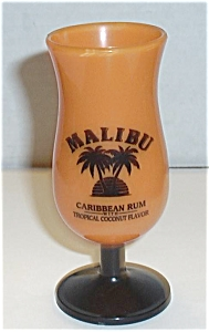 Malibu Caribbean Rum Shot Glass Orange