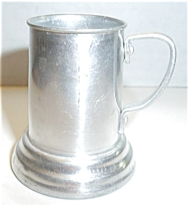 ALUMINUM  MUG SHOT GLASS WITH GLASS BOTTOM (Image1)