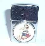 Click to view larger image of VINTAGE W & D NYC PINUP LIGHTER BLONDE (Image1)