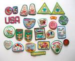 25 - Girl Scout Patches - Picquet - Earth Save - Recycl