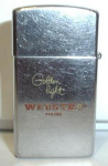 Click here to enlarge image and see more about item 136: ZIPPO WEBSTER CIGARS ADV. CIRCA 1962