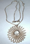 Click here to enlarge image and see more about item 137: GOLD FINISH NECKLACE WEST GERMANY