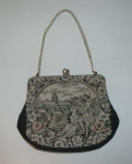 Click here to enlarge image and see more about item 203: OLD VERDI NEEDLEPOINT PURSE