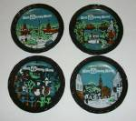 4 DIFFERENT VINTAGE 1960`S WALT DISNEY WORLD COASTERS