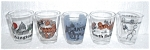 Click to view larger image of 5 SHOT GLASSES ALL DIFFERENT (Image1)