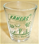 KANSAS WHERE THE WEST BEGINS (GREEN PRINT DECAL)