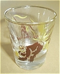 VINTAGE BOTTOMS UP AFRICAN THEME SHOT GLASS