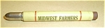 Click here to enlarge image and see more about item 62405-1: BULLET ADVERTISING PENCIL CIRCA 40`S MIDWEST FARMERS LI