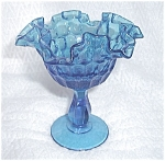 Click here to enlarge image and see more about item 71005: FENTON BLUE ICE THUMBNAIL COMPOTE