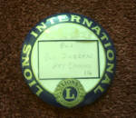 Click here to enlarge image and see more about item 718107: VINTAGE 1929 LIONS INTERNATIONAL PINBACK
