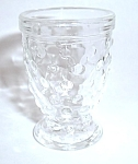 OLD PRESS HOBNAIL PEDESTAL VINTAGE SHOT GLASS