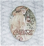 Click here to enlarge image and see more about item 7305-4: VINTAGE POCKET MIRROR COCA COLA