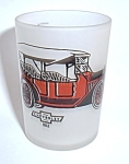 Click to view larger image of VINTAGE 4 OZ. 1912 CHEVROLET FROSTED  SHOT GLASS (Image1)