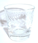 VINTAGE ETCHED ARROW LEAF SHOT GLASS