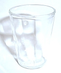 VINTAGE HORIZONTAL LINE WITH BLOB FLAWS SHOT GLASS