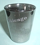 CHROME ILLINOIS MIRRORED CHICAGO SHOT GLASS