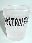 VINTAGE FROST DETROIT SHOT GLASS