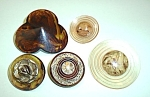 5 VINTAGE IMITATION TORTOISE SHELL AND OTHERS