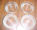 4 VINTAGE CLEAR GLASS PYREX DESERT CUPS