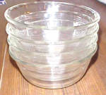 Click to view larger image of 4 VINTAGE CLEAR GLASS PYREX DESERT CUPS (Image3)