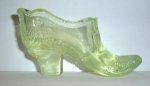 Click here to enlarge image and see more about item A1: MOSSER VASELINE GLASS SHOE