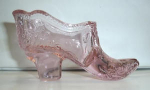 Click here to enlarge image and see more about item A2: MOSSER CRANBERRY ICE GLASS SHOE