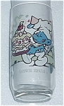 1983 BAKER SMURF PEPSI COLLECTORS GLASS