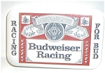 Click here to enlarge image and see more about item J7: BUDWEISER RACING PIN BACK