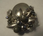 Click here to enlarge image and see more about item JEWEL8: MOTHER OF PEARL & RHINESTONE, FAUX DIAMOND BR