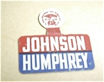 Click here to enlarge image and see more about item JOHNSONHUMPHREY1: JOHNSON HUMPHREY PINBACK