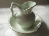Click to view larger image of VINTAGE JAPAN MINI FLORAL MINT GREEN PITCHER (Image2)