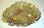 Click here to enlarge image and see more about item K111: CARNIVAL GLASS BOWL GRAPE AND LEAF PATTERN