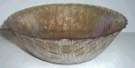 """Click to view larger image of 9"""" CARNIVAL GLASS BOWL WEAVED BASKET (Image1)"""