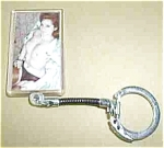 OLD RISQUE 2 SIDED NUDES PINUP KEYCHAIN 60`S RARE