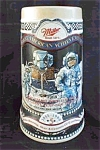 Click here to enlarge image and see more about item MILLERSTEIN1: MILLER BEER FIRST MAN ON MOON SPACE MUG STEIN