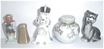 Click to view larger image of 10 VINTAGE ODD SALT AND PEPPER SHAKERS (Image1)