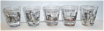 Click to view larger image of 5 CARNIVAL BOTTOM WESTERN SCENE SHOT GLASSES (Image1)