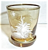 Click to view larger image of AMBER WHITE GOLD PAINTED BOY SHOT GLASS (Image2)