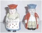 Click to view larger image of OLD  COLONIAL MAN AND WOMAN SALT & PEPPER (Image1)