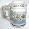 Click to view larger image of HAND PAINTED STEIN MUG CANADA JAPAN US 1540 (Image2)