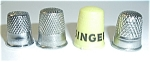 Click here to enlarge image and see more about item TH1: 4 DIFFERENT THIMBLE