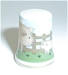 Click here to enlarge image and see more about item TH4: PIG & PIGLET THIMBLE
